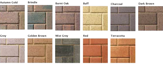 Driveways in a coice of Brick/Block colour and design pattern