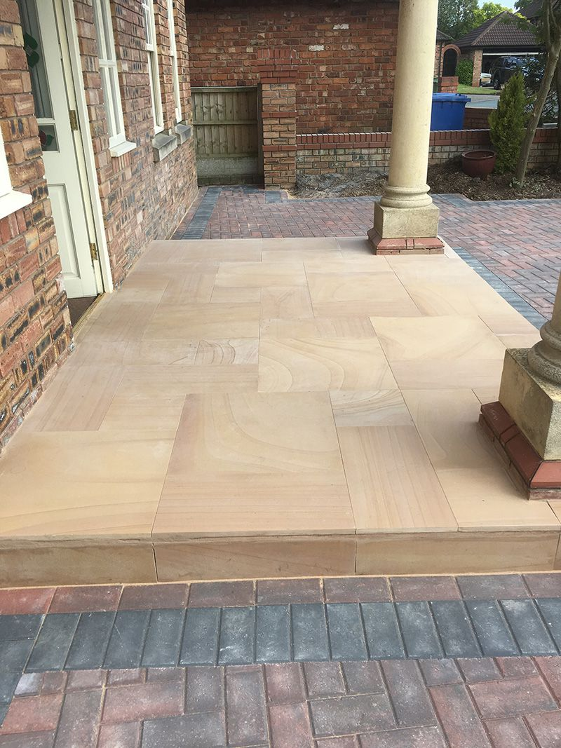 Paved sandstone Entrance Astley