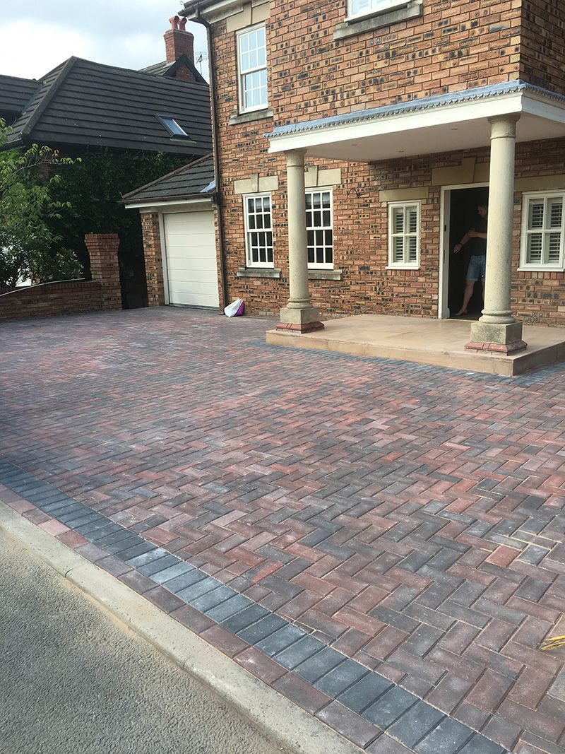 Paved sandstone Entrance and bloack paved driveway Astley