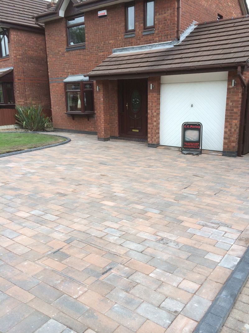 Serento block paved drive