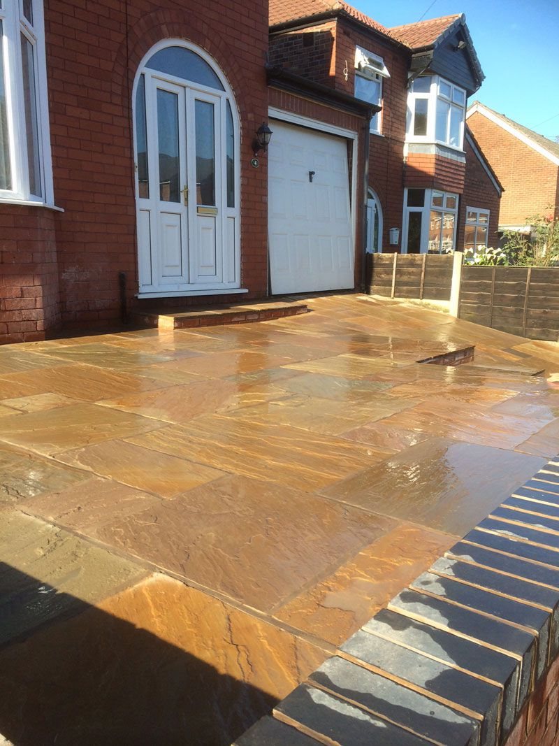 Driveway Buff multi Indian stone wet