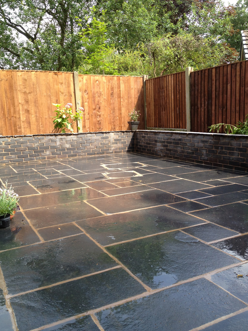 Black Slate Indian Stone and Black Brick
