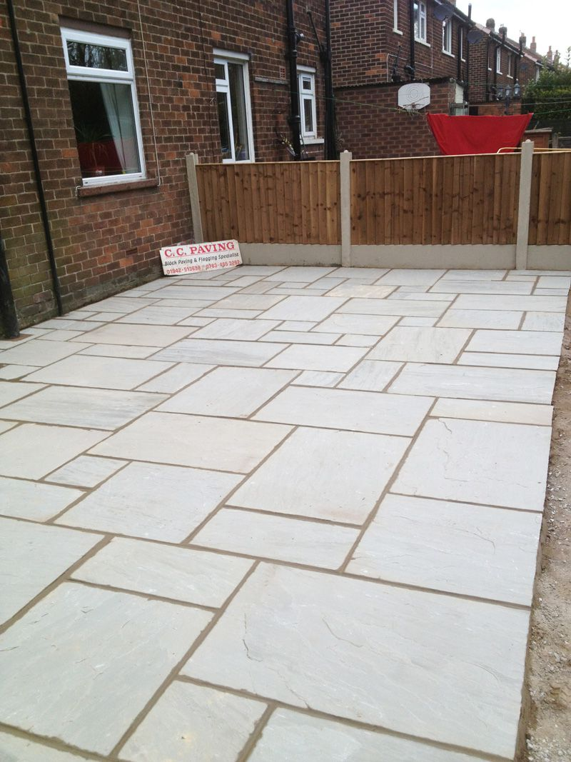 Indian sand stone flags in dove grey