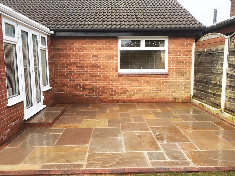 Autumn brown patio when sealed