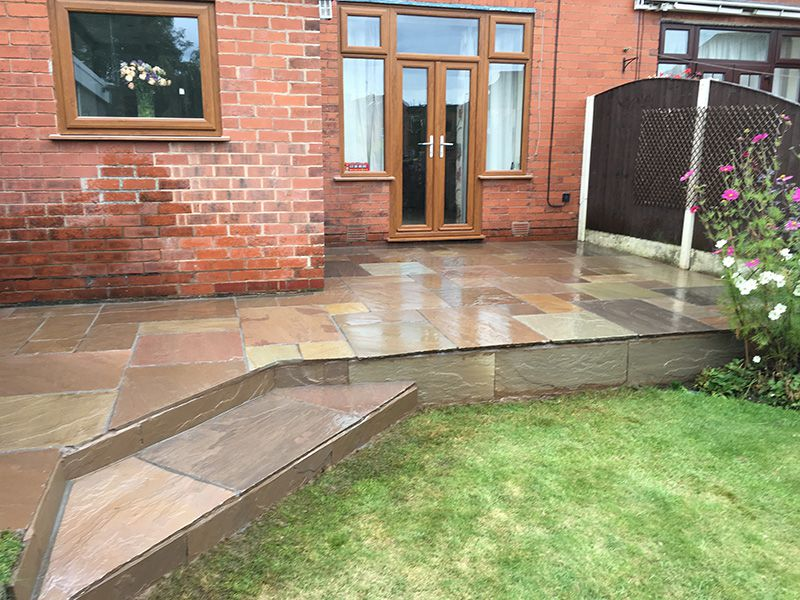 Buff multi patio and steps Wigan